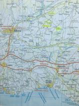 Map showing Vale de Vila