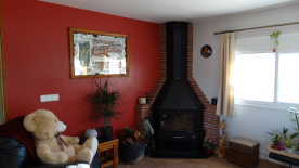 Wood Burner in Lounge