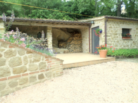 in addition the garden shed and covered terrace