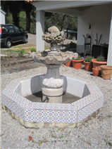 fountain in front of terrace