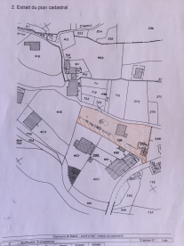 The plot ( area shown in yellow)