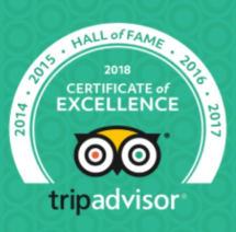 TripAdvisor 5 star rating with over 280 reviews