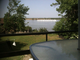 Beautiful Danube River from the rear garden veranda !