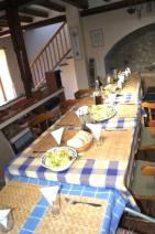 kitchen set up for big dinner