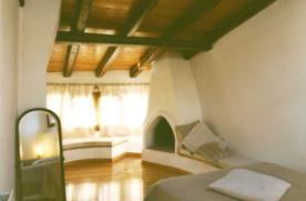 bedroom 1, open fireplace