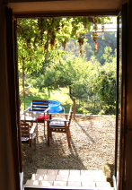 The terrace, from the kitchen