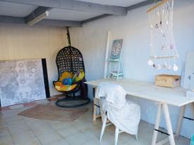 Studio with rear storage area
