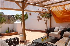 Garden room on large terrace