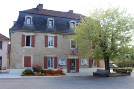 Marie's office in Mauzac village square