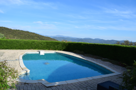 pool set in private gardens