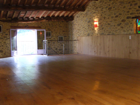 'yoga studio' or games room, before conversion to lounge/2nd bedroom/kitchen for 2nd apartment