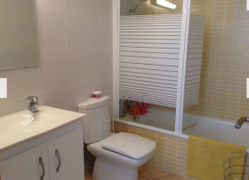 Master bedroom, ensuite bathroom with bath and shower.