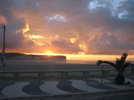 Sunset at Foz beach,