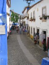 The main street of Obidos.