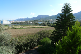 View towards Kyrenia across Agriculture land
