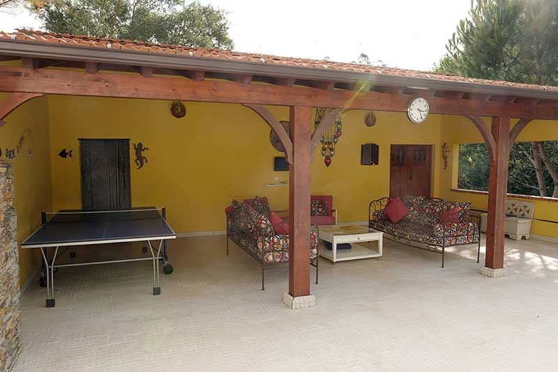 Pergola with Pool Shower Room and Large Storage Room behind.