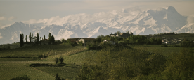 Views of the Alps to the north