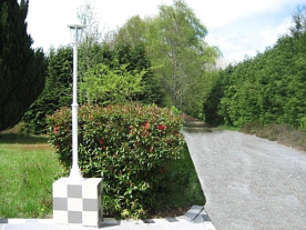 private driveway leading to the front gate