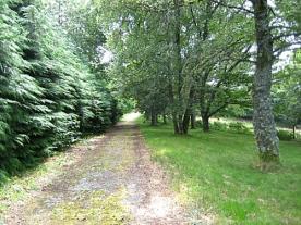 private tarmac driveway leading to the villa