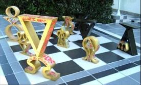 Republican Chessboard artwork flooring