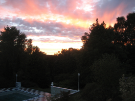 one of the sunset scenes - different every night