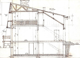 section of the building drawing