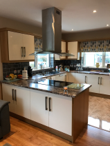 Kitchen Island with Electrolux  induction hob