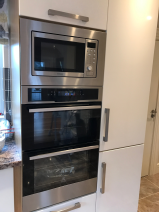 Electrolux built in double oven with Nordmende microwave