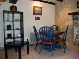 Dining area in guest accomodation