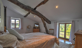Bedroom overlooking Gers countryside