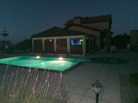 Lights on in the pool