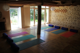 Eco lodge during yoga retreats
