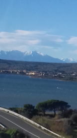 View of the Canigou from Leucate.