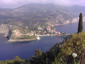Assos village from the castle