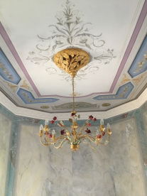 Hand painted ceiling and walls