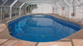POOL WITH TELESCOPIC COVER