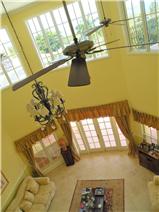 Sunken formal sitting room from upstairs, overlooks panoramic ocean views