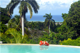View from infinity pool deck