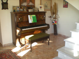 10. Spacious entrance hall with piano - marble staircase to first floor on right