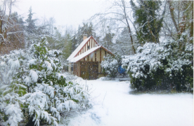 Garage in winter time