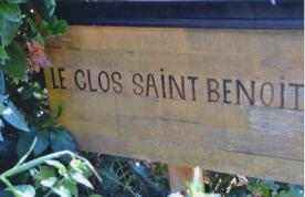 """Le Clos Saint Benoit"" named after an old local legend."
