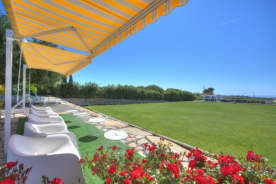 1st grass lawn at Marialva over looking the sea
