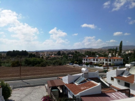 View from roof terrace of hills