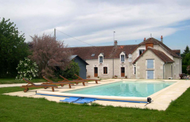 Property from afar and pool.