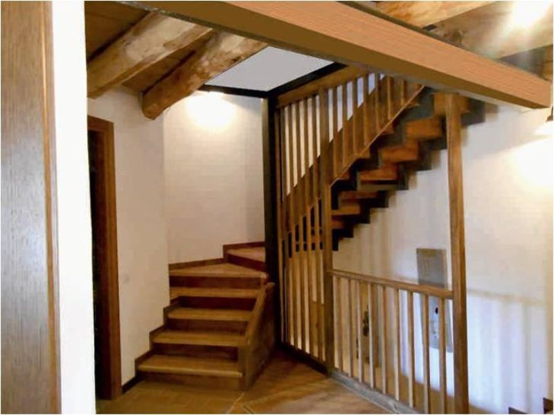 Staircase from first floor to the attic