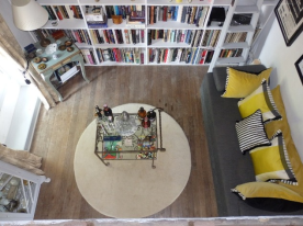 Library seen from the mezzanine