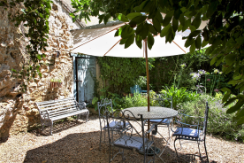 A shady corner of the garden