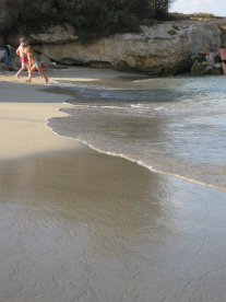 crystal clear sea, sand beaches