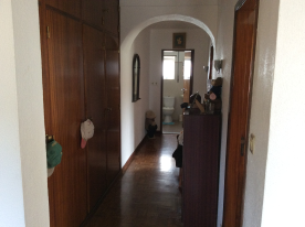 Hallway with fitted cupboards