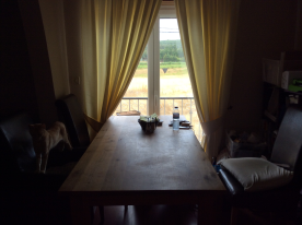 Dining area with lovely views over the fields